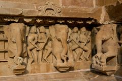 Lakshamana Temple in Khajuraho Royalty Free Stock Photo