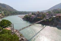 Lakshman Jhula most w Rishikesh fotografia royalty free