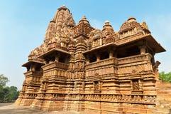 Lakshmana tempel i Khajuraho Royaltyfri Bild