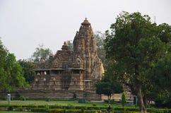 LAKSHMANA TEMPLE, Facade - North View, Western Group, Khajuraho, Madhya Pradesh, UNESCO World Heritage Site. LAKSHMANA TEMPLE, Facade - North View, Western Group stock photography