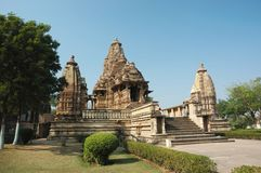 Lakshmana temple at Khajuraho,India,Madhya Pradesh Royalty Free Stock Photo