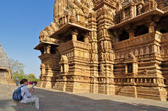 Lakshmana Temple, Khajuraho, India Stock Photography