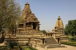 Lakshmana temple, Western Temples of Khajuraho,India Royalty Free Stock Images