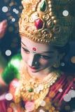Lakshmi eller laxmipuja på diwalifestival Royaltyfria Foton