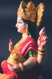 Lakshmi eller laxmipuja på diwalifestival Arkivfoton