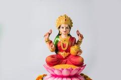 Lakshmi eller laxmipuja på diwalifestival Arkivbild