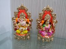 Lakshmi-Ganesh Στοκ Φωτογραφίες