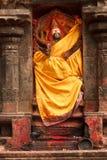Lakshmi image. Hindu goddess bas relief  in Hindu temple. Arunachaleswar Temple, Tiruvannamalai, Tamil Nadu, India Royalty Free Stock Photography