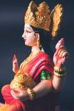 Lakshmi or laxmi puja on diwali festival. Idol worshipping of Hindu Goddess Lakshmi - Lakshmi Puja is a Hindu religious festival that falls on Amavasya new moon Stock Photos