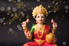 Lakshmi of laxmipuja op diwalifestival Stock Afbeeldingen