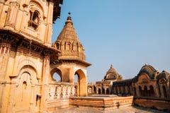 Lakshmi Narayan Mandir ancient ruins in Orchha, India stock photos