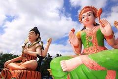 Lakshmi and shiva Hindu god in temple thailand Royalty Free Stock Photography