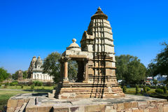 Lakshmi Shrine,  Western Group, Khajuraho, India. Royalty Free Stock Photos