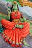 Lakshmi at Sri Mahamariamman Indian Temple. Lakshmi (Hindu Goddess of wealth, prosperity, fortune, beauty) with a lotus in her hand, at Sri Mahamariamman Indian Royalty Free Stock Photos
