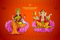 Lakshmi und Ganesh lizenzfreie abbildung