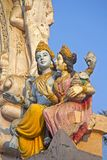 Lakshmi and Vishnu Stock Photography