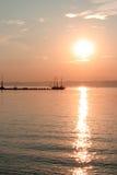 Lakside. Ship in the balaton lake Stock Images