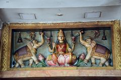 Laksmi στο ναό Kortumalai Sri Ganeshar, Κουάλα Λουμπούρ, Μαλαισία στοκ εικόνες με δικαίωμα ελεύθερης χρήσης