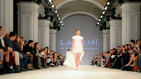 LAKSMI presentation, Ukrainian Fashion Week 2015,. KIEV - OCT 18: LAKSMI presentation during Ukrainian Fashion Week 2015 on October 18, 2015 in Kiev, Ukraine stock footage