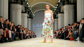 LAKSMI presentation, Ukrainian Fashion Week 2015,. KIEV - OCT 18: LAKSMI presentation during Ukrainian Fashion Week 2015 on October 18, 2015 in Kiev, Ukraine stock video footage