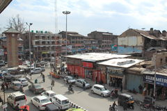 Lal Chowk(srinagar). Royalty Free Stock Photography