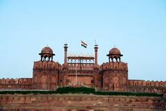 Lal Qila德里红堡在德里 库存照片