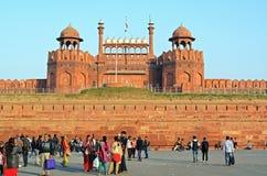 Lal Qila - красный форт в Дели, Индии Стоковое Фото