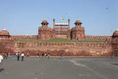 Lal Qila - fort rouge à Delhi, Inde le 25 septembre 2012 Image libre de droits