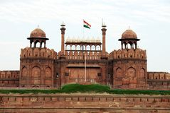 Lal Qila Red Fort in Delhi Lizenzfreie Stockbilder