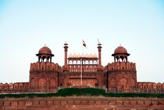Lal Qila Red Fort in Delhi Lizenzfreies Stockbild