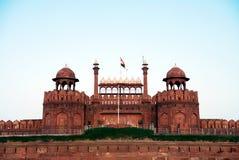 Lal Qila Red Fort em Deli Imagem de Stock Royalty Free