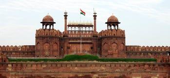 Lal Qila Red Fort i Delhi fotografering för bildbyråer