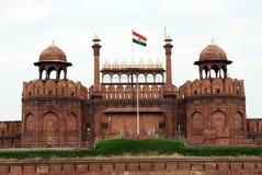 Lal Qila Red Fort i Delhi Arkivbilder