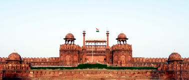 Lal Qila Red Fort i Delhi arkivbild