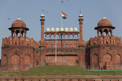 Lal Qila - Rood Fort in Delhi, India 25 September, 2012 Royalty-vrije Stock Afbeelding