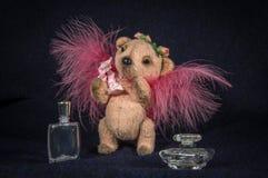 Lala anioł z różowymi puszystymi skrzydłami Zdjęcie Royalty Free