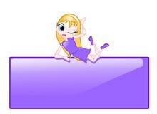 lala blond włosy Obrazy Royalty Free