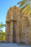 Lala Mustafa Pasha Mosque also St. Nicholas Cathedral in Famagusta, Cyprus. Royalty Free Stock Photo