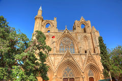 Lala Mustafa Pasha Mosque in Famagusta Stock Photography