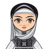 Lala w muzułmanin sukni avatars Zdjęcie Stock