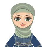 Lala w muzułmanin sukni avatars Fotografia Stock