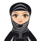 Lala w muzułmanin sukni avatars Obraz Stock