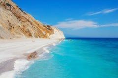 Lalaria海滩,斯基亚索斯岛,希腊 免版税库存图片