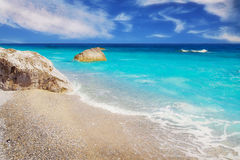 Lalaria Beach, Skiathos, Greece Stock Photography