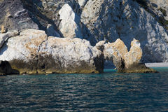 Lalaria beach at Skiathos island in Greece Stock Photos