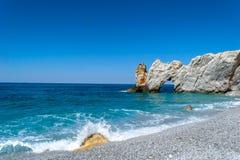 Lalaria d'île de Skiathos Grèce Photographie stock libre de droits