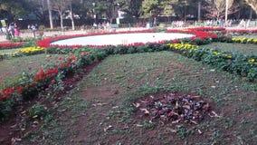 Lalbagh庭院,班格洛,卡纳塔克邦,印度 免版税库存照片