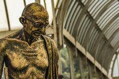 Lalbagh exhibición floral enero de 2019 - estatua de Gandhiji foto de archivo