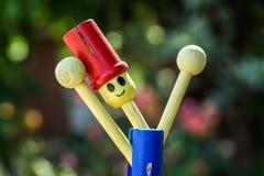 Lali drewniana chłopiec kolorowa Zdjęcia Stock
