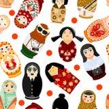 Lali matryoshka matrioshka rosjanina wektorowej zabawki tradycyjny symbol Rosja krajowy matreshka różne narodowości royalty ilustracja